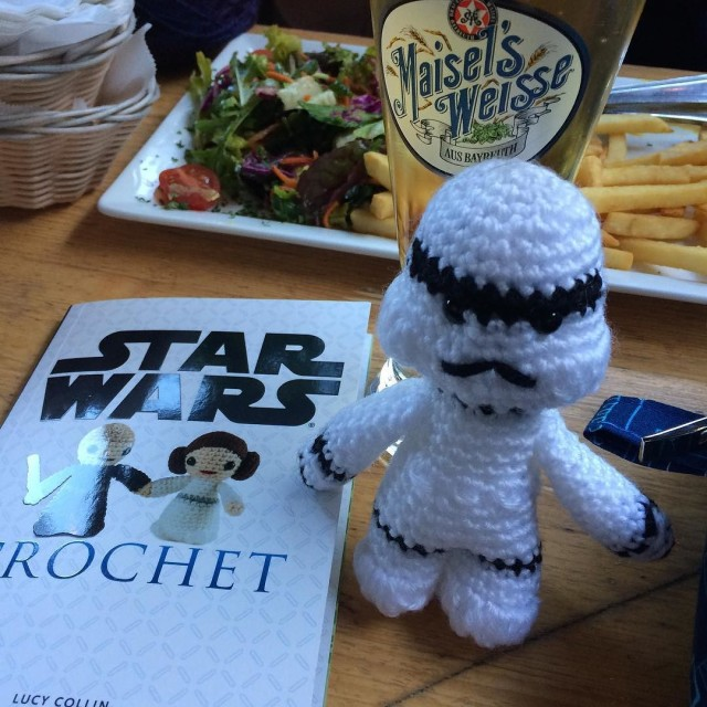 Storm trooper at his knit nite debut.